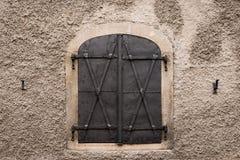 Otturatore della finestra del metallo Fotografia Stock Libera da Diritti