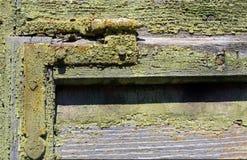 Vecchio otturatore di legno Fotografia Stock