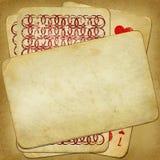 Vecchio pacchetto dell'annata delle schede dal disegno Immagini Stock Libere da Diritti