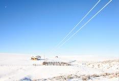 Vecchio paesaggio di inverno dell'allevamento di pecore Fotografia Stock