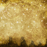 Vecchio paesaggio lunare Fotografia Stock