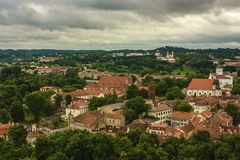 Vecchio paesaggio urbano della città Fotografia Stock Libera da Diritti