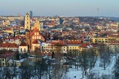 Vecchia città di Vilnius Fotografie Stock Libere da Diritti