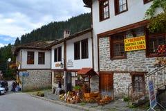 Vecchio paesino di montagna Fotografie Stock Libere da Diritti