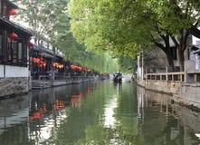 Vecchio paesino di pescatori cinese Fotografia Stock