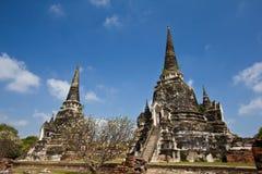 Vecchio Pagoda a Wat Phra Sri Sanphet Fotografie Stock