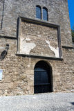 Vecchio palazzo della città di Rodi Immagini Stock Libere da Diritti