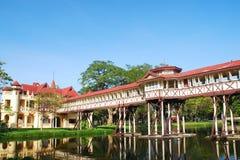 Vecchio palazzo della Tailandia Fotografia Stock Libera da Diritti