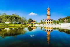 Vecchio palazzo della Tailandia Immagini Stock