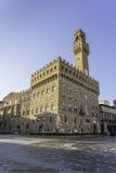Vecchio Palazzo en Florencia Imágenes de archivo libres de regalías