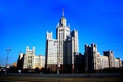 Vecchio palazzo multipiano che bulding a Mosca Fotografia Stock