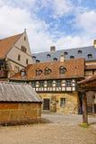 Vecchio palazzo nel centro urbano di Bamberga Immagine Stock