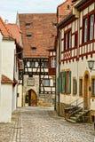 Vecchio palazzo nel centro urbano di Bamberga della Germania Immagine Stock
