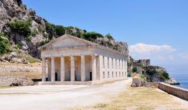 Vecchio palazzo sull'isola di Corfù, Grecia Fotografie Stock