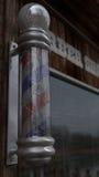 Vecchio palo del barbiere in Barber Shop Immagine Stock Libera da Diritti