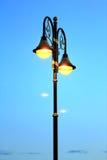 Vecchio palo della lampada di via Immagini Stock