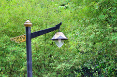 Vecchio palo della lampada di via Immagine Stock