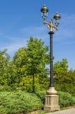 Vecchio palo della lampada di via Fotografie Stock