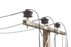 Vecchio palo elettrico, che è stato usato a lungo Fotografia Stock Libera da Diritti