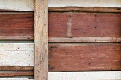 Vecchio pannello del legno duro del primo piano Immagine Stock Libera da Diritti
