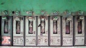 Vecchio pannello verde del commutatore Immagini Stock Libere da Diritti