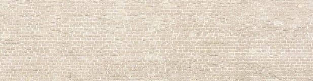 Vecchio panorama del muro di mattoni del lavaggio bianco Immagini Stock Libere da Diritti