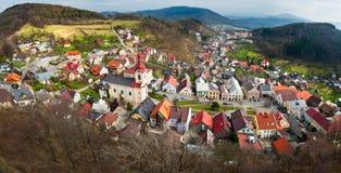 Vecchio panorama della città Fotografie Stock Libere da Diritti