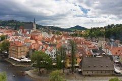 Vecchio panorama della città Immagini Stock Libere da Diritti