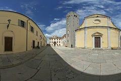 Vecchio panorama della piazza Fotografia Stock Libera da Diritti