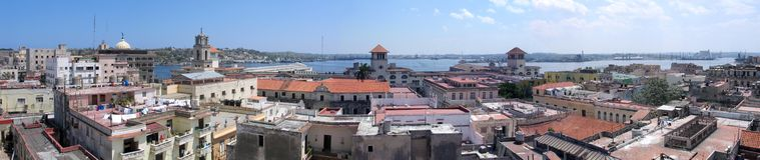 Vecchio panorama di Avana Fotografia Stock Libera da Diritti