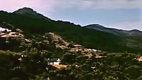 Vecchio panorama di Ibiza archivi video