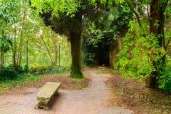Vecchio parco in Italia Fotografia Stock Libera da Diritti