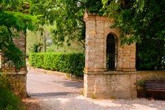 Vecchio parco in Italia Fotografia Stock