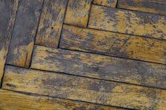 Vecchio parquet sporco Fotografia Stock Libera da Diritti
