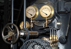 Vecchio particolare del motore a vapore Fotografia Stock