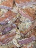 Vecchio particolare della parete Fotografie Stock