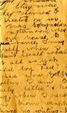 Vecchio particolare della scrittura a mano della lettera Fotografia Stock Libera da Diritti