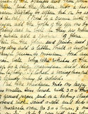 Vecchio particolare della scrittura a mano di ricetta Fotografie Stock