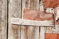 Vecchio particolare di legno del portello Immagini Stock