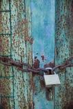 Vecchio particolare di legno del portello Fotografie Stock