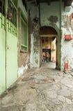 Vecchio passaggio pedonale di modo di cinque piedi, George Town, Penang, Malesia immagine stock libera da diritti