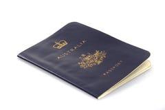 Vecchio passaporto australiano Immagine Stock