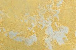 Vecchio pavimento di giallo di danno Fotografia Stock Libera da Diritti