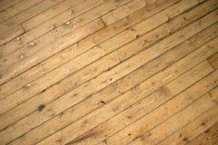 Vecchio pavimento di legno Immagine Stock Libera da Diritti