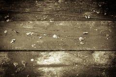 Vecchio pavimento di legno Fotografia Stock Libera da Diritti