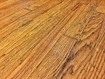 Vecchio pavimento di legno duro Fotografia Stock