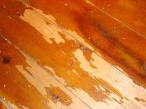 Vecchio pavimento di legno duro indossato fotografia stock