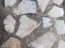 Vecchio pavimento di pietra Fotografie Stock