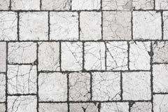 Vecchio pavimento di pietra bianco Immagini Stock