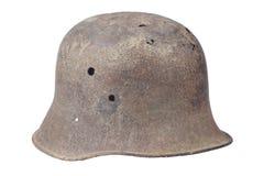 Vecchio periodo tedesco arrugginito del casco ww1 Fotografia Stock Libera da Diritti
